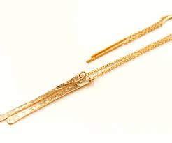 Gold Name Earrings Threader Bar Earrings Gold Filled Everywhereur