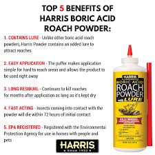 buric acid harris boric acid roach and silverfish killer powder