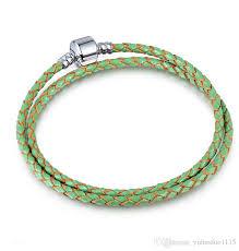 pandora silver leather bracelet images 2018 diy pandora genuine leather bracelet 3mm 925 silver basic jpg