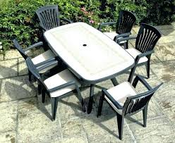 white resin dining table resin patio table and chairs plastic