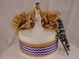 firefighter cake toppers wedding cake toppers firefighter wedding cake idea