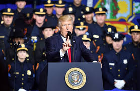trump to group of law enforcement officers u0027please don u0027t be too