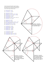 Roof Framing Pictures roof framing geometry tetrahedron trigonometric identity formulas