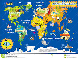 World Map With Antarctica by Map Of The World For Kids World Map