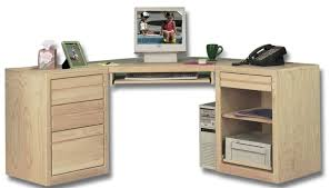 All Wood Computer Desk Furniture Unfinished Solid Wood Computer Corner Desk With Storage