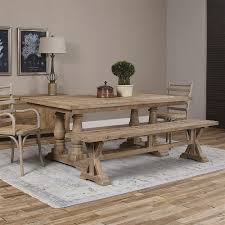 gamble rustic lodge reclaimed fir stone wash dining table kathy