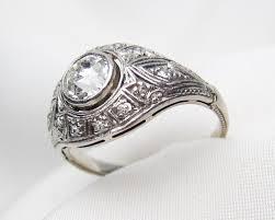 filigree engagement ring low profile deco diamond ring platinum filigree diamond ring