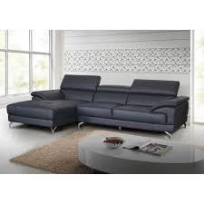 canap d angle cuir gris anthracite salon d angle en cuir gris anthracite moderne lucia meuble house