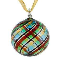 multi colored murano glass ornament