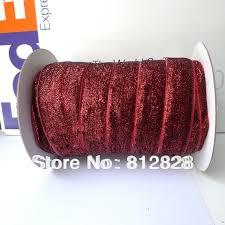 burgundy velvet ribbon 1 25mm 10 burgundy glitter metallic velvet ribbon free shipping