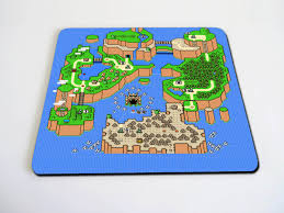 Etsy World Map by Super Mario World Map Mousepad