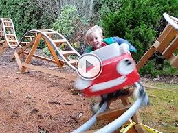 roller coaster for backyard dad of the year makes a backyard roller coaster thechive
