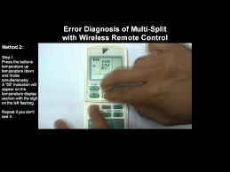 error diagnostic for multi split ra unit using wireless remote