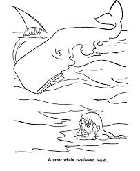 whale swallowed jonah jonah whale coloring