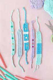 make friendship bracelet easy images Woven yarn friendship bracelets handmade charlotte jpg