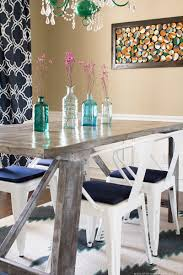 rug in dining room diy painted rug mountainmodernlife com