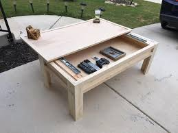 Open Coffee Table Made A Coffee Table With A Sliding Top Top Albums Woodworking