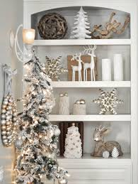 Silver Bookshelf Silver Christmas Decorating Ideas All About Christmas