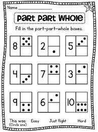first grade math unit 2 number sense part part whole number