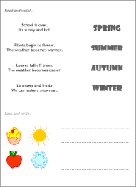 four seasons in english printable resources