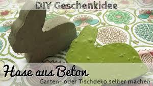 diy deko aus beton betonhase als gartendeko oder geschenk youtube