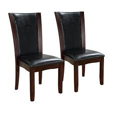 Manhattan Leather Chair Furniture Of America Cm3710 Manhattan Side Dining Chair Set Of 2