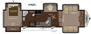 5th wheel with living room in front front living room fifth wheel floor plans thecreativescientist com