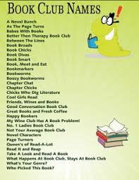 list of 58 clever book club names book clubs books and book worms