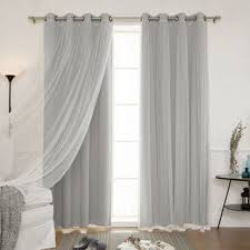 White And Grey Curtains Home Mix And Match Blackout Blackout Curtains Panel Set 4