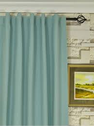Cotton Drapes Moonbay Plain Concealed Tab Top Cotton Curtains Custom Curtains