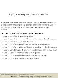 best cv format for engineers pdf converter top 8 qa qc engineer resume sles 1 638 jpg cb 1430028809
