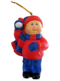 cabbage patch ornament boy with
