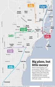 Map Of South Beach Miami by Miami Dade May Build Six New Rail Lines For Commuters Miami Herald