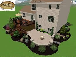 Deck With Patio Designs by Signature Concrete Design 2430 Butler Street Easton Pa Concrete