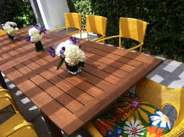 Table Appealing Teak Outdoor Furniture For Patio Decoration