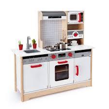 cuisine en bois jouet pas cher cuisine tout en un en bois hape promo cuisine oxybul et eveil