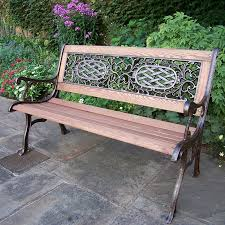 iron park benches oakland living mississippi cast iron and wood bench in antique