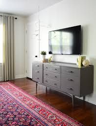 Decorative Flat Screen Tv Covers How To Hide Tv Wires For A Cord Free Wall Young House Love