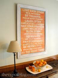 subway art ballard designs sandpaper family rules subway art subway art family rules orange distressed diy