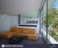 open plan living room with wall partition in briarcrest house