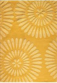 Yellow Area Rug 5x7 by Greco Area Rug Contemporary Rugs Yellow Area Rugs Floral Pattern