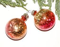 pink pine cones box set glass ornaments pink
