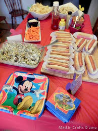 mickey mouse birthday party mickey mouse birthday party menu mad in crafts