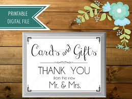 Printable Wedding Card Box Sign | wedding card box sign cards and gifts sign gift table