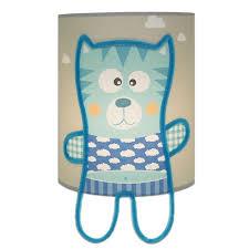 applique murale chambre bébé applique murale grise illustrée d un petit bleu pour chambre