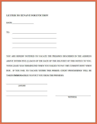 eviction letters templates lukex co
