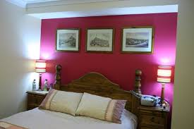 color combination with white hot pink accent wall with white paint color for small bedroom ideas
