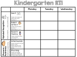 sarah u0027s first grade snippets rti in kindergarten abc and