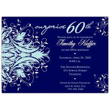 andromeda navy blue surprise 60th birthday invitations paperstyle
