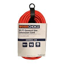 Workchoice Outdoor Grounded Outlet With by 50 Ft Indoor Outdoor Extension Cord 16 3 Medium Duty Orange